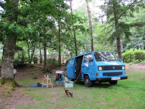 campen in frankreich
